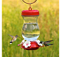Perky-Pet® 24 oz Top Fill Glass Hummingbird Feeder