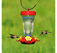 Perky-Pet® Yellow Flower Top Fill Plastic Hummingbird Feeder - 16 oz Nectar Capacity