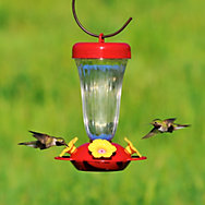 Perky-Pet® Yellow Flower Top Fill Plastic Hummingbird Feeder - 16 oz Nectar Capacity