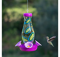 Perky-Pet® Colorful Swirls Glass Hummingbird Feeder