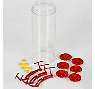 Perky-Pet® Acrylic Bottle, Perch, 6 Flowers & 6 Pods