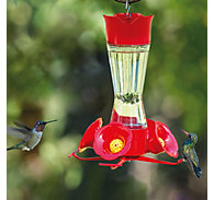 Perky-Pet® Pinch-Waist Glass Hummingbird Feeder - 8 oz Nectar Capacity