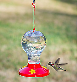 Garden Song® Clear Plastic Hummingbird Feeder