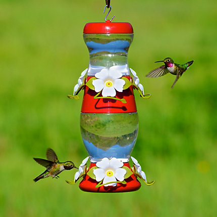 Perky-Pet® Double Decker Plastic Hummingbird Feeder - 26 oz Nectar Capacity