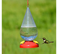 Perky-Pet® Dew Drop Plastic Hummingbird Feeder - 32 oz Nectar Capacity