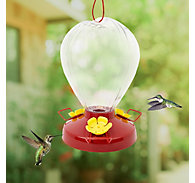 Perky-Pet® Fluted Balloon Plastic Hummingbird Feeder - 32 oz