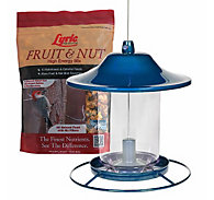 Lyric® Fruit & Nut Bird Seed and Perky-Pet® Blue Sparkle Bird Feeder Bundle