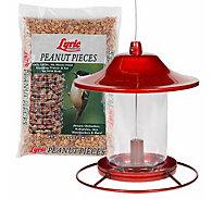 Lyric® Peanut Pieces & Perky-Pet® Red Sparkle Panorama Feeder Bundle