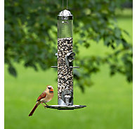 Perky-Pet® Silver 2-in-1 Wild Bird Feeder - 1.8 lb Seed Capacity