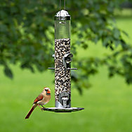 Perky-Pet® Silver 2-in-1 Wild Bird Feeder
