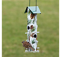 Perky-Pet® Pine Metal Tube Bird Feeder - 1 lb Seed Capacity