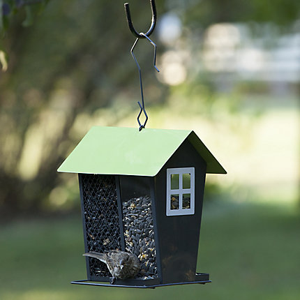 Perky-Pet® Gray Seed Duo Wild Bird Feeder