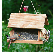 Perky-Pet® The Lodge Wild Bird Feeder - 8 lb Seed Capacity, 2 - 12 oz Suet Cakes
