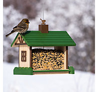 Perky-Pet® Mountain Lodge Wood Bird Feeder - 2 lb Seed Capacity