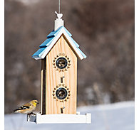Perky-Pet® Birdie B&B Wood Bird Feeder - 2 lb Seed Capacity