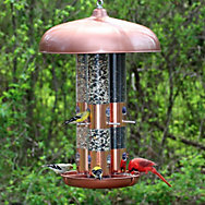 Perky-Pet® Copper Finish Triple Tube Bird Feeder