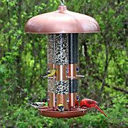 Perky-Pet® Copper Finish Triple Tube Bird Feeder