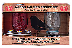 Perky-Pet® Mason Jar Wild Bird Seed Feeder