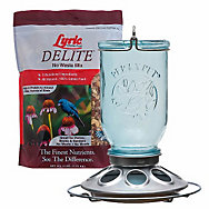 Lyric® Delite Wild Bird Seed & Perky-Pet® Mason Jar Bird Feeder Bundle