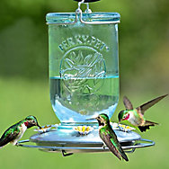 Perky-Pet® Mason Jar Glass Hummingbird Feeder - 32 oz Nectar Capacity