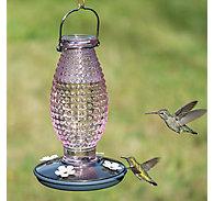 Perky-Pet® Cranberry Hobnail Vintage Hummingbird Feeder - 16 oz Nectar Capacity