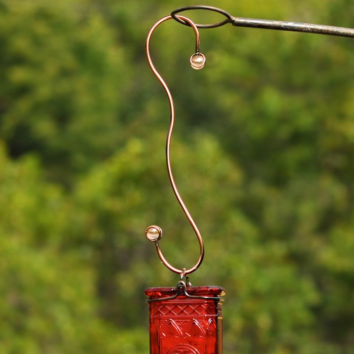 Perky-Pet� Decorative Beaded Hanging Hooks with Copper Finish - Rose-Tinted