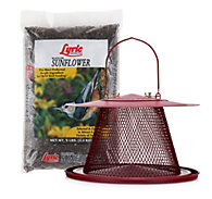NO/NO® Cardinal Wild Bird Feeder With Lyric® Black Oil Sunflower Seed