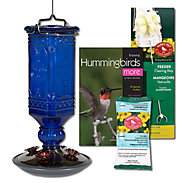 Perky-Pet® Cobalt Blue Antique Glass Hummingbird Feeder Kit