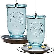 Perky-Pet® Mason Jar Glass Hummingbird Feeder and Waterer Set