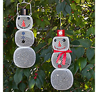 Perky-Pet® Snow Man and Snow Woman Wild Bird Feeder Set - 2.25 lb Seed Capacity, Each