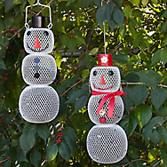 Perky-Pet® Snow Man and Snow Woman Wild Bird Feeder Set - 2.25 lb Seed Capacity, Each