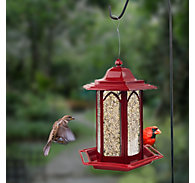 Perky-Pet® Brick Red Gazebo Feeder