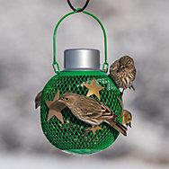 NO/NO® Green Solar Seed Ball Bird Feeder
