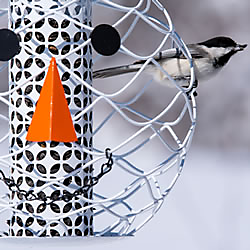 NO/NO® Solar Hat Snowman Head Bird Feeder