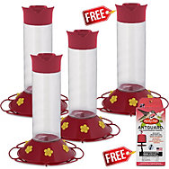 "Perky-Pet® Buy 3 Get 1 FREE - ""Our Best"" Hummingbird Feeder with FREE Nectar"