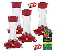 Perky-Pet® Buy 3 Get 1 FREE - Pinch-Waist Glass Hummingbird Feeder