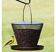NO/NO® Bronze Single Tier Mesh Bird Feeder with Tray