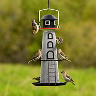 Perky-Pet® Solar Lighthouse Finch Feeder - 1.5 lb Seed Capacity