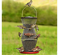 NO/NO® 3 Tier Super Red & Brass Wild Bird Feeder