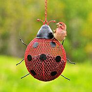 Perky-Pet® Ladybug Mesh Wild Bird Feeder - .6 lb Seed Capacity