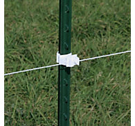 Red Snap'r® T-Post Insulator, White