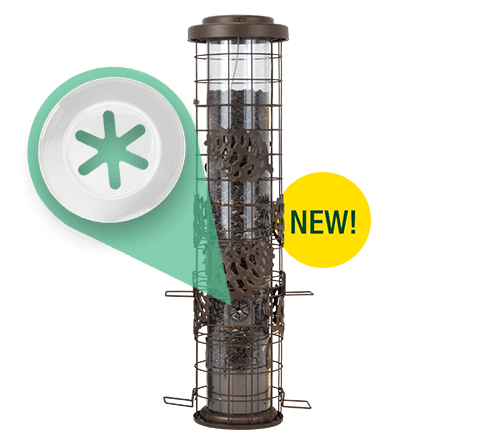 Perky-Pet Squirrel-Be-Gone Max Pinecone Bird Feeder with Flexport