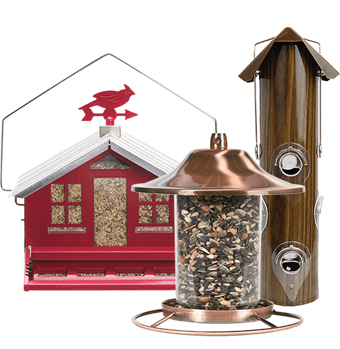 Collection of Perky-Pet Seed Feeders