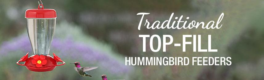 Traditional Top-Fill Hummingbird Feeders