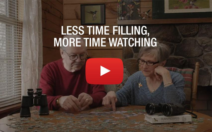 Less time filling, more time watching